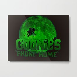 Green Goonies Phone Home Metal Print