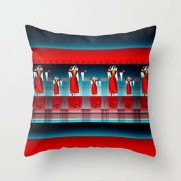 Armenian Dancers Throw Pillow