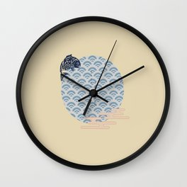 japanese icon and logo template Wall Clock