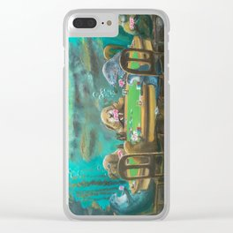 Pinnipeds Playing Poker Clear iPhone Case