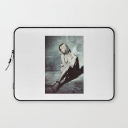 Nude and Beautiful woman bound with an old iron chain Laptop Sleeve