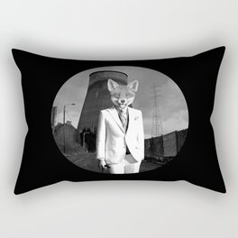 The White Fox is going to town Rectangular Pillow