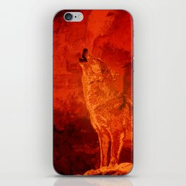 Fire Wolf iPhone Skin