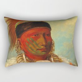 The White Cloud, Head Chief of the Iowas, Catlin Rectangular Pillow