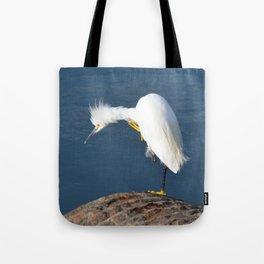 grooming egret Tote Bag