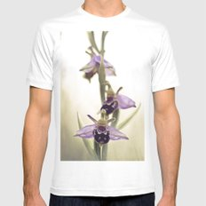 Ophrys Apifera MEDIUM Mens Fitted Tee White