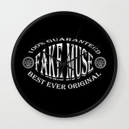 Fake Muse badge (white on black) Wall Clock