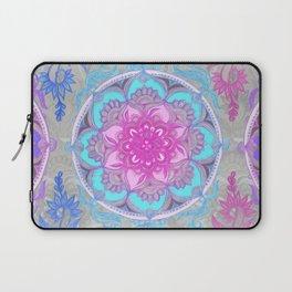 Pink, Purple and Turquoise Super Boho Doodle Medallions Laptop Sleeve