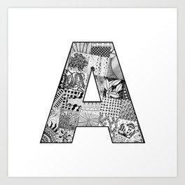 Cutout Letter A Art Print