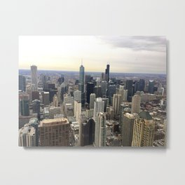 Chicago Skyline - Color Photograph Metal Print