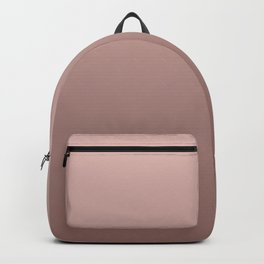 Soft Copper Rose Gold Ombré Backpack