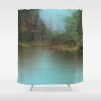 lake Shower Curtains featuring Lake by Turul