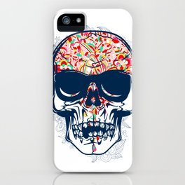 Dead Skull Zombie with Brain iPhone Case