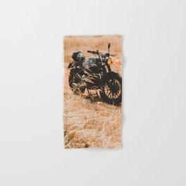 Old motorcycle photo, café racer, man cave gift, mancave, scrambler, cafe racer Hand & Bath Towel