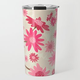 Pink Camomiles Pattern Travel Mug
