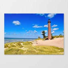 """Little Sable Point Lighthouse"" Canvas Print"