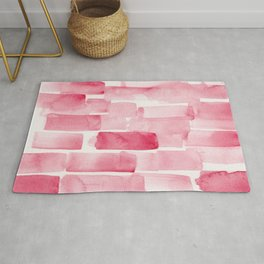 Pink  Watercolour Patterns | 190129 Abstract Art Watercolour Rug
