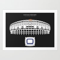 real madrid Art Prints featuring Santiago Bernabéu - Real Madrid Stadium  by Dick Smith Designs