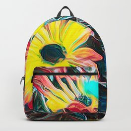 abstract gerbera daisy Backpack