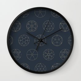 Geocircles (Blue II) Wall Clock