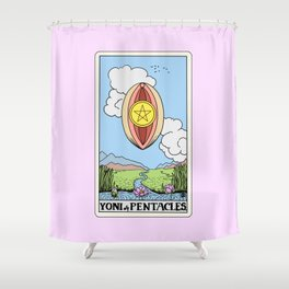 Yoni of Pentacles Shower Curtain