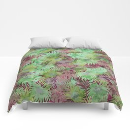 Seamless Pattern of Tropical Leaves II Comforters