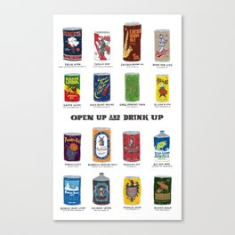 Open Up and Drink Up Canvas Print