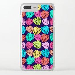Monstera Deliciosa Print Clear iPhone Case