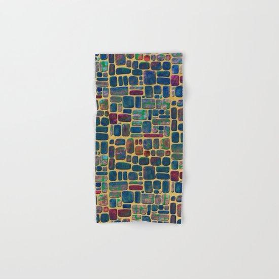 Abstract Tile Mosaic Hand & Bath Towel