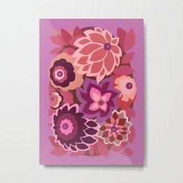 CAMBRIA, ART DECO FLORALS: LIPSTICK Metal Print