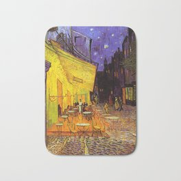 Vincent Van Gogh Cafe Terrace At Night Bath Mat