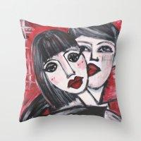 xoxo Throw Pillows featuring XOXO by sladja