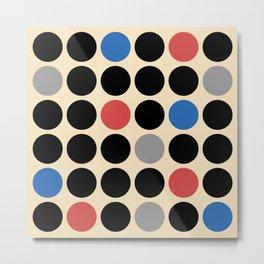 Mid Century Modern Polka Dot Pattern 427 Metal Print