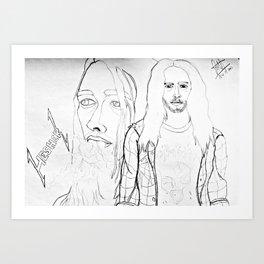 HESHER Art Print