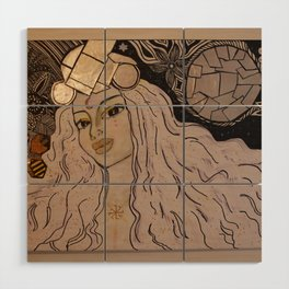 Lady Moon Wood Wall Art
