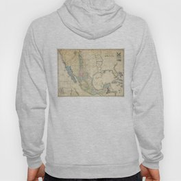 Vintage Map of Mexico (1847) Hoody