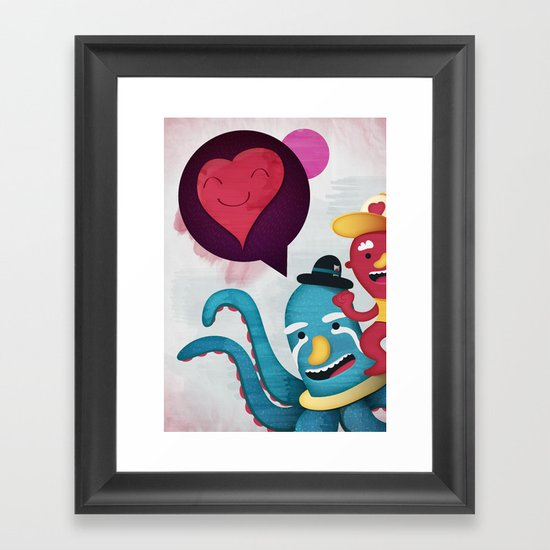 Pushing Love Like Pimps Framed Art Print