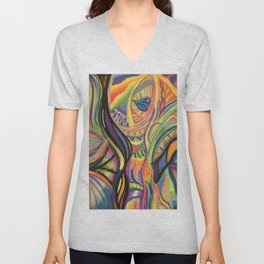 Abstract Moods Unisex V-Neck