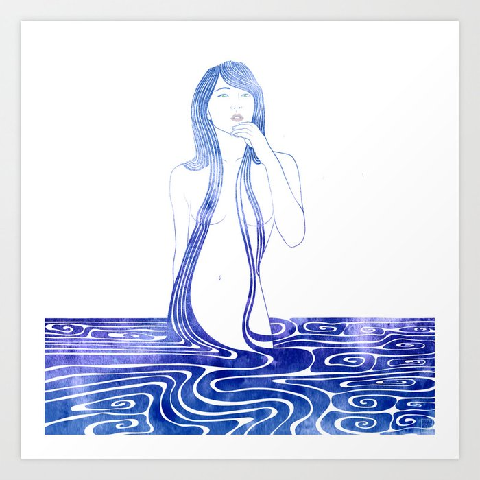 Water Nymph C Art Print
