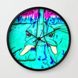 Turquoise Elephant Wall Clock