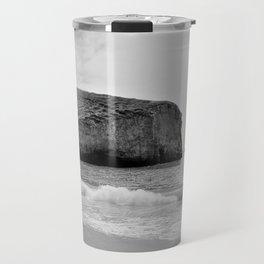 Bedrock Seascape Grayscale #12 Travel Mug