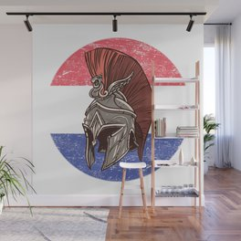 Croatia Croatian Spartan  TShirt Warrior Shirt Flag Gift Idea Wall Mural