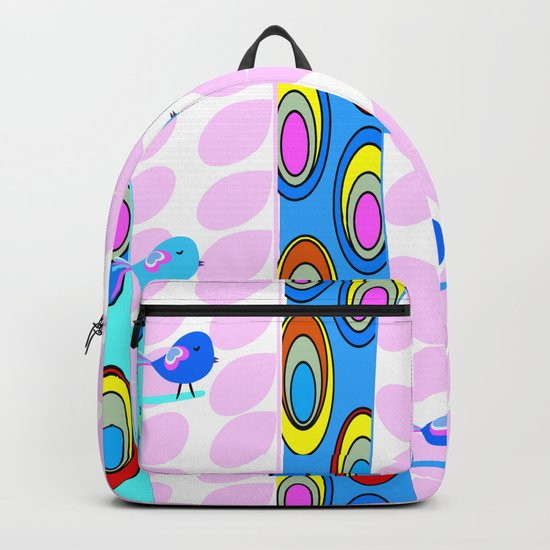 Birds and colorful trees Backpack