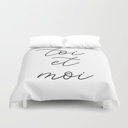 toi et moi, you and me Duvet Cover