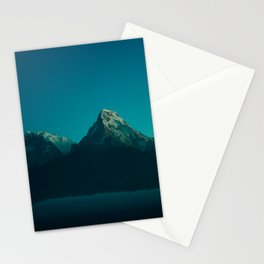 Magical Blue Mountains Star Night Sky Ombre Sunset Stationery Cards