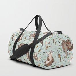 Cute Sea Otters Duffle Bag