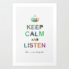 Listen To Sellah  Art Print