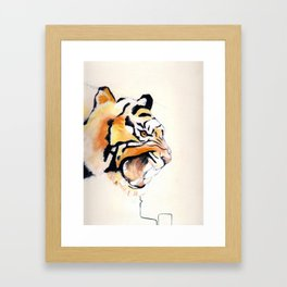 Eye of the Tiger Framed Art Print