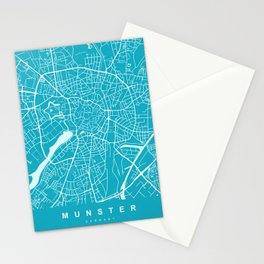 MUNSTER City Map - Germany | Aqua | More Colors, Review My Collections Stationery Cards