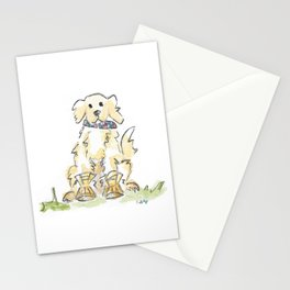 Preppy & Plaid Retriever Stationery Cards